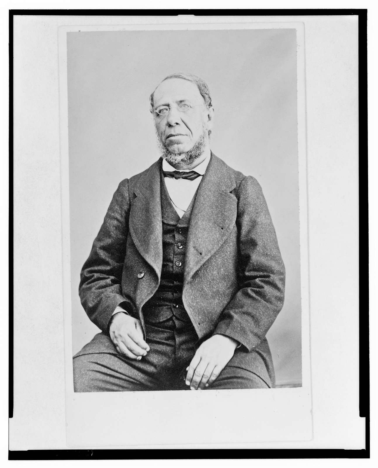 [Jose Maria Lacunza, half-length portrait, seated, facing front]