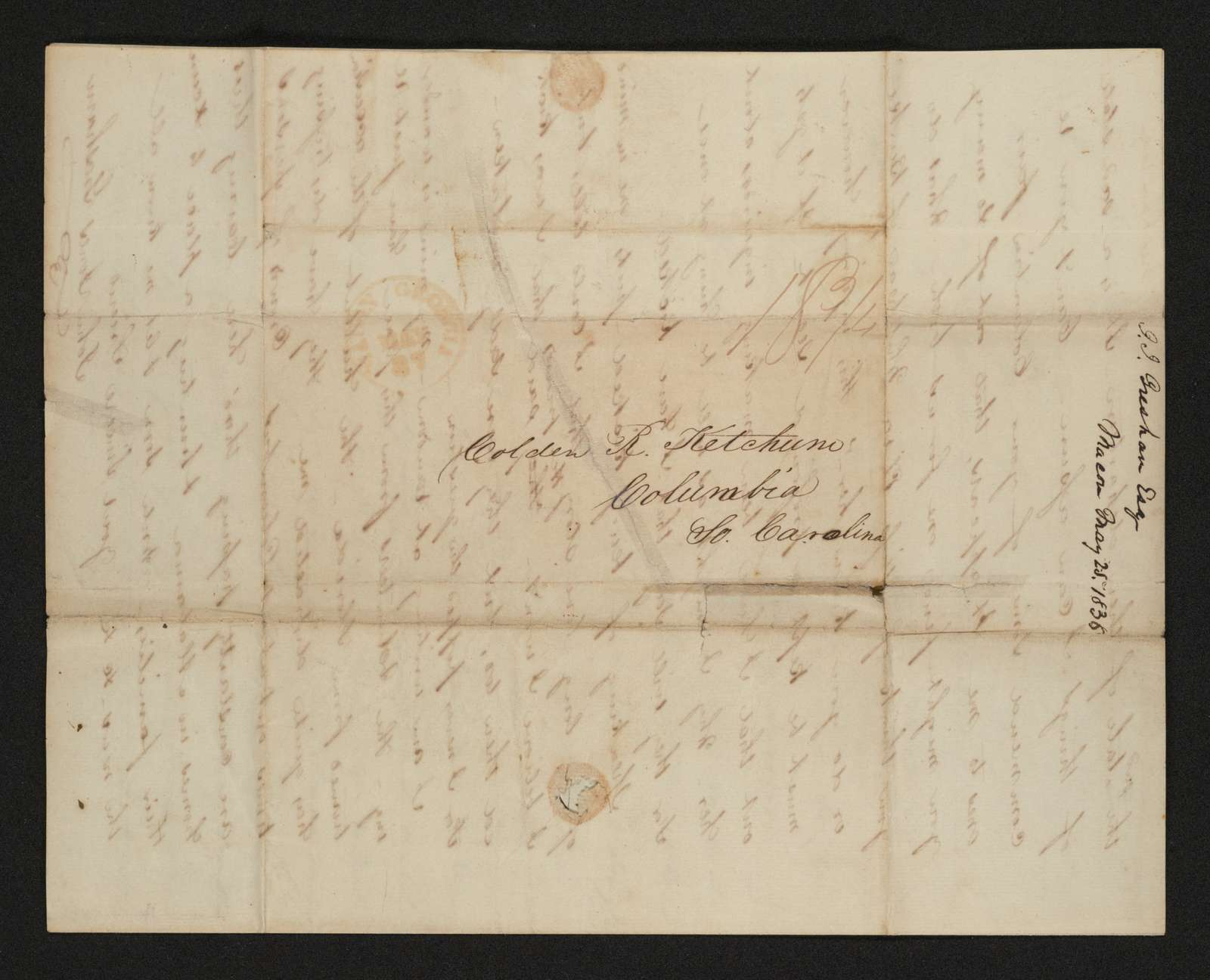 Lewis H. Machen Family Papers: Gresham Family Correspondence, 1834-1925; 1834-1845