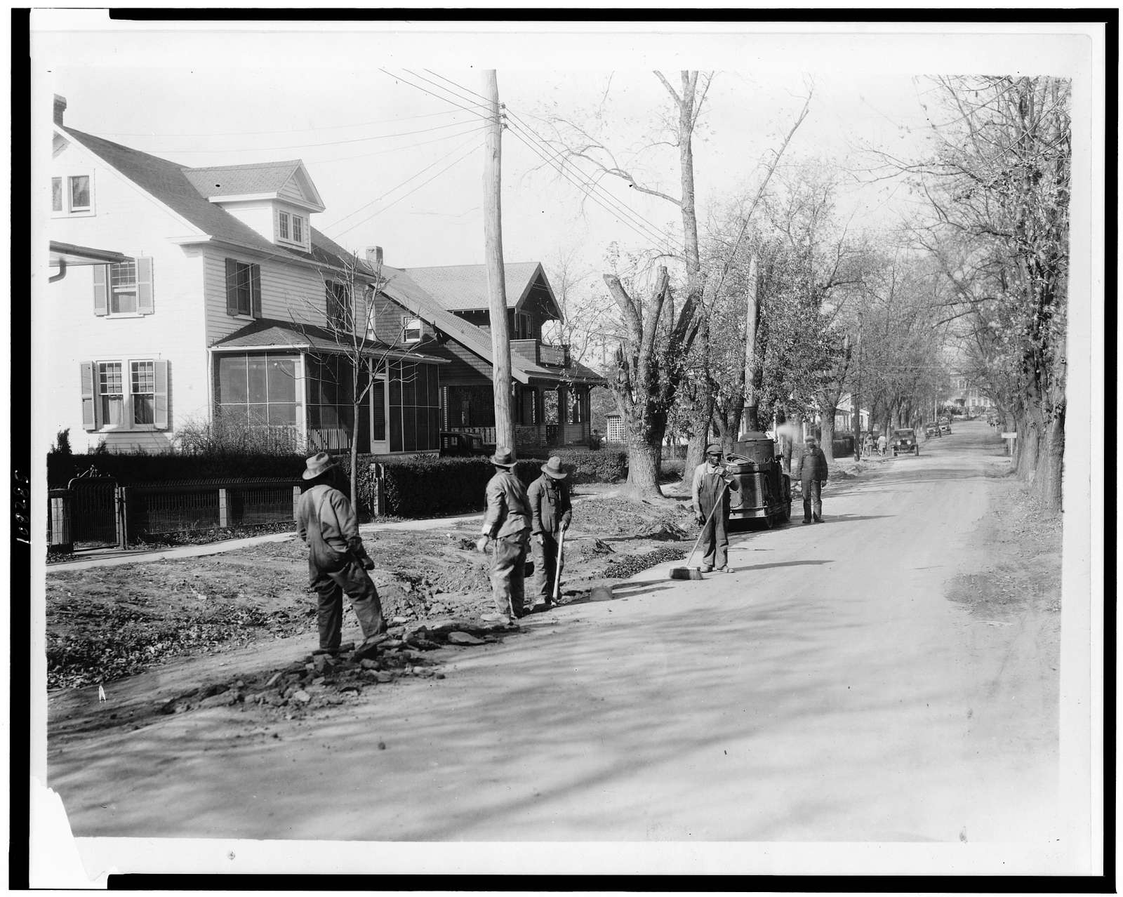 [Men working on road in the Washington, D.C. area(?)]