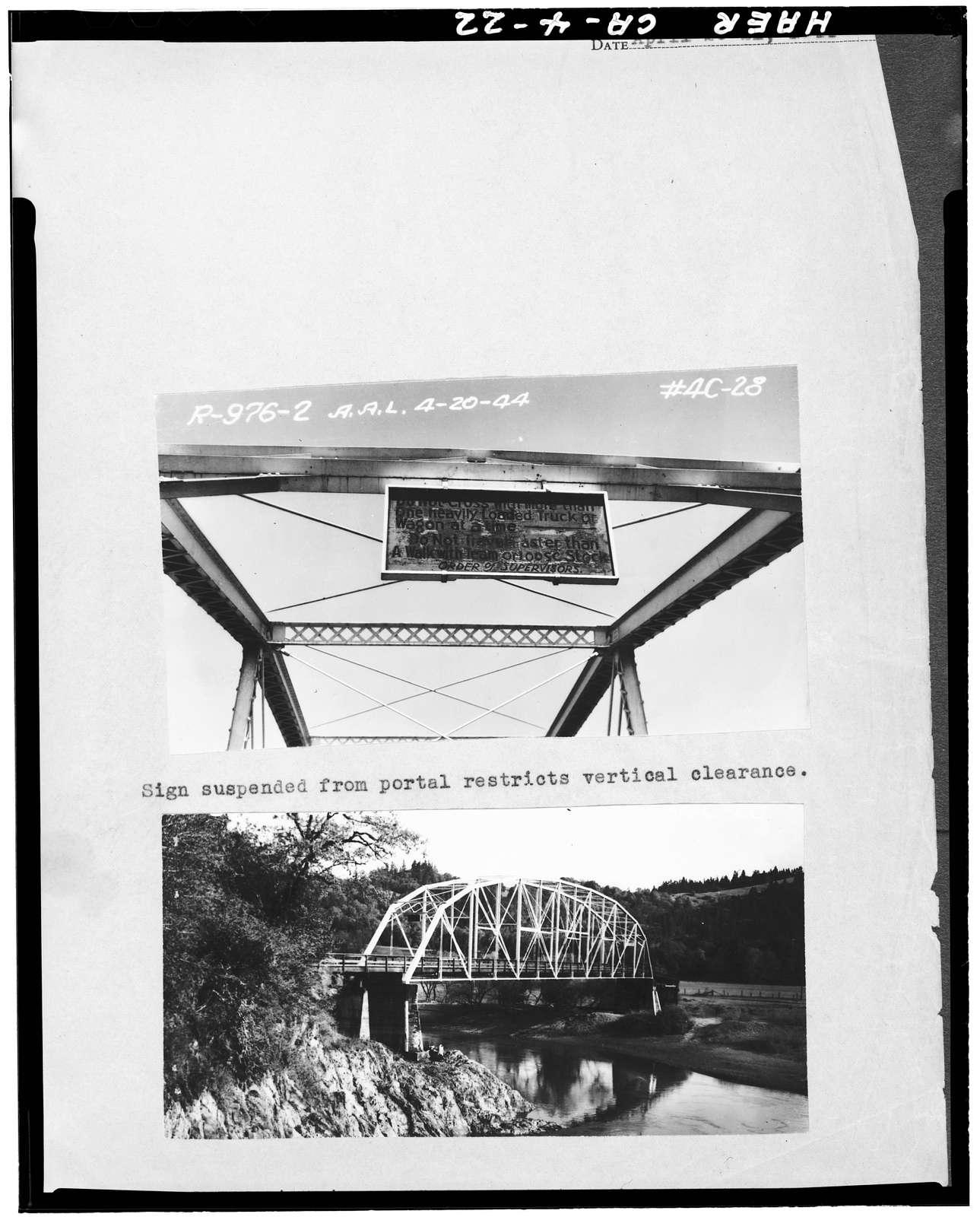 Moody Bridge, Spanning South Fork Eel River, Garberville, Humboldt County, CA