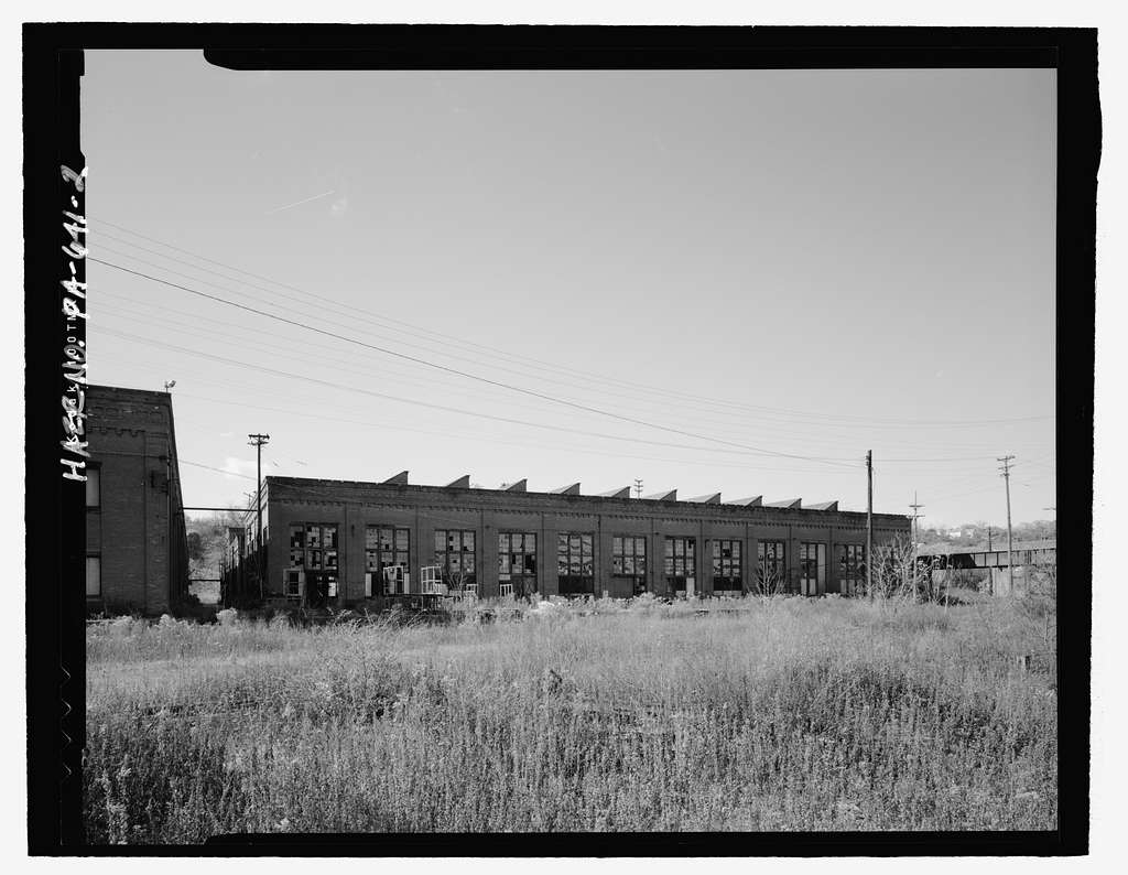 Pittsburgh & Lake Erie Railroad, Locomotive Repair Shops, River Road at Chartiers Avenue, McKees Rocks, Allegheny County, PA