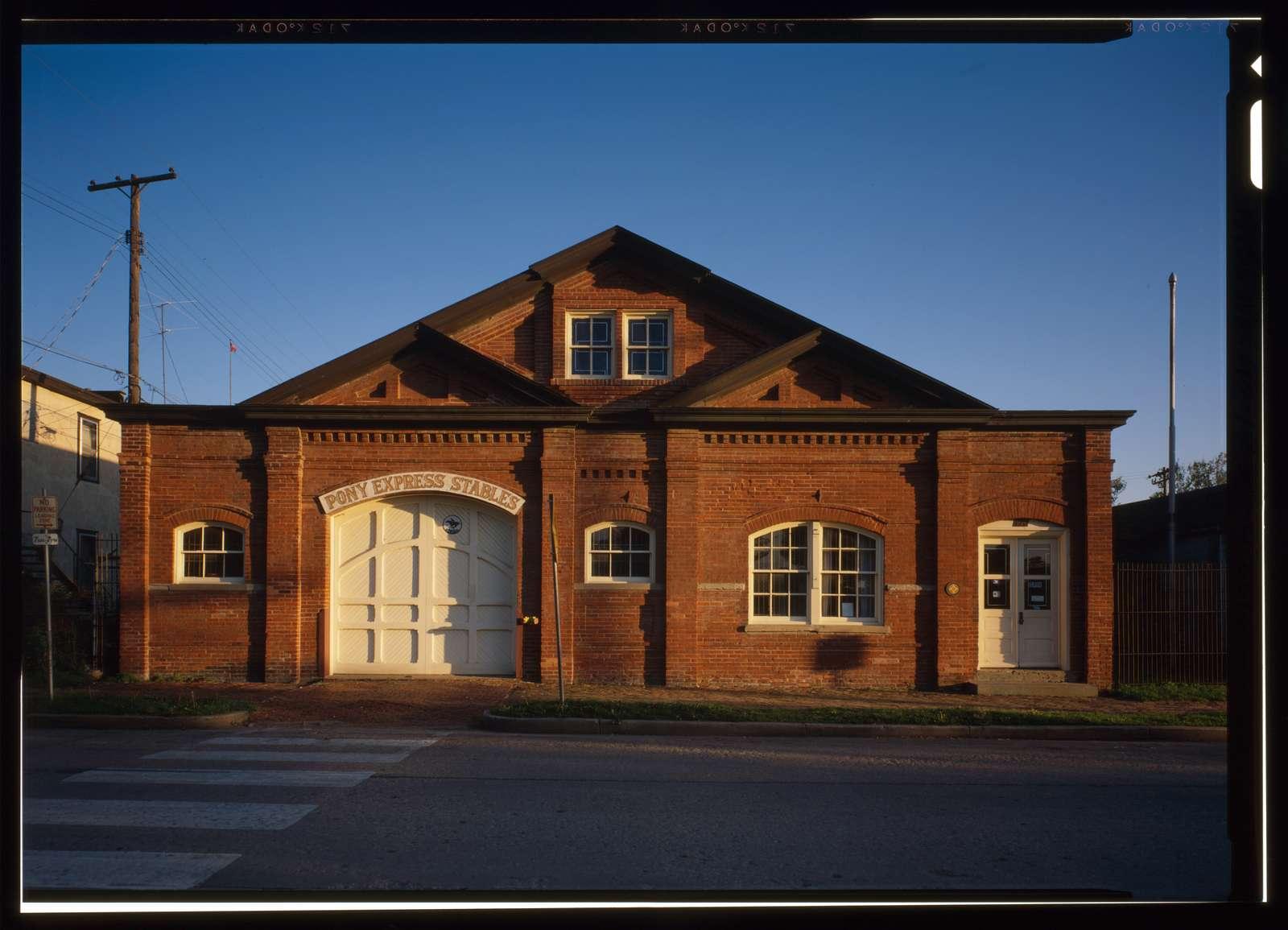 Pony Express Stables, 914 Penn Street, Saint Joseph, Buchanan County, MO