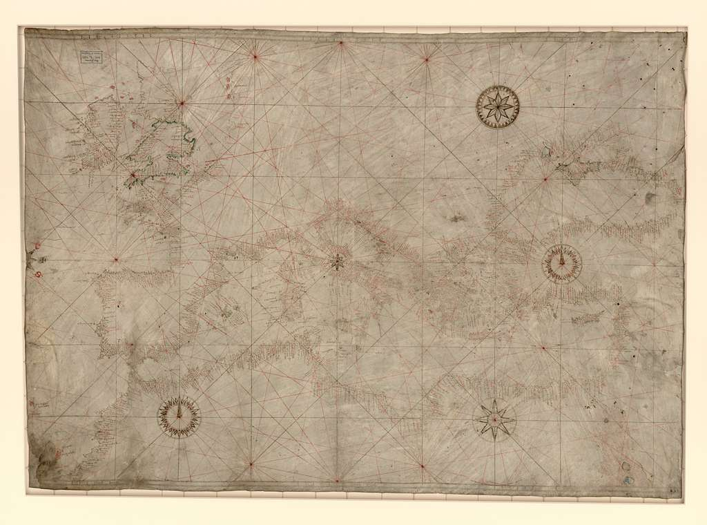 [Portolan chart of the Mediterranean, the Black Sea, and the coasts of Europe and northwest Africa].