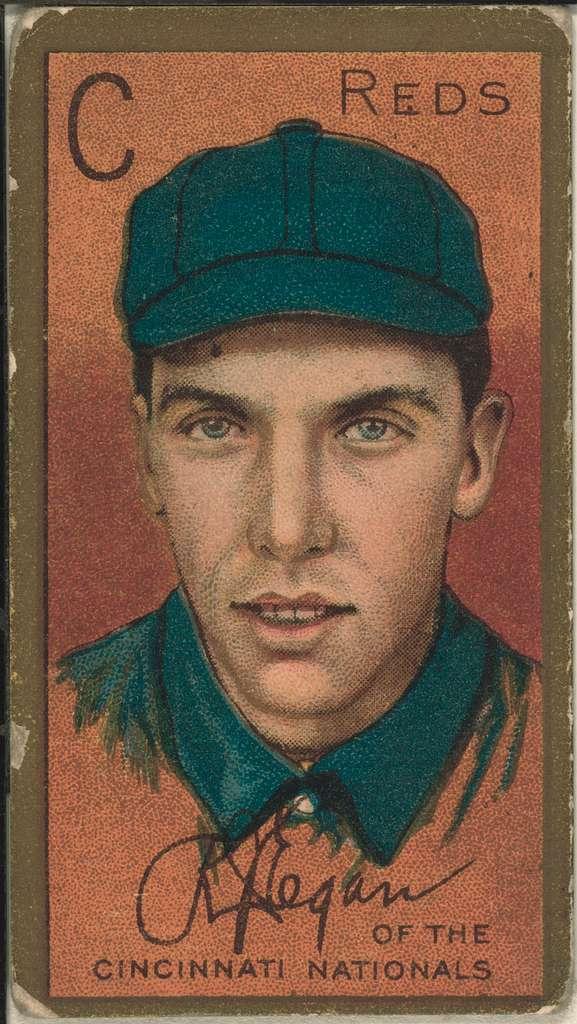 [Richard J. Egan, Cincinnati Reds, baseball card portrait]