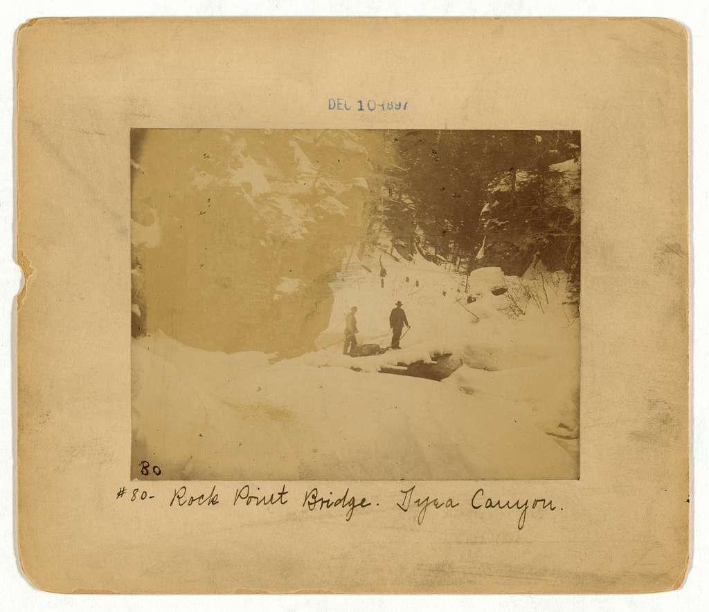 Rock Point bridge, Dyea Canyon