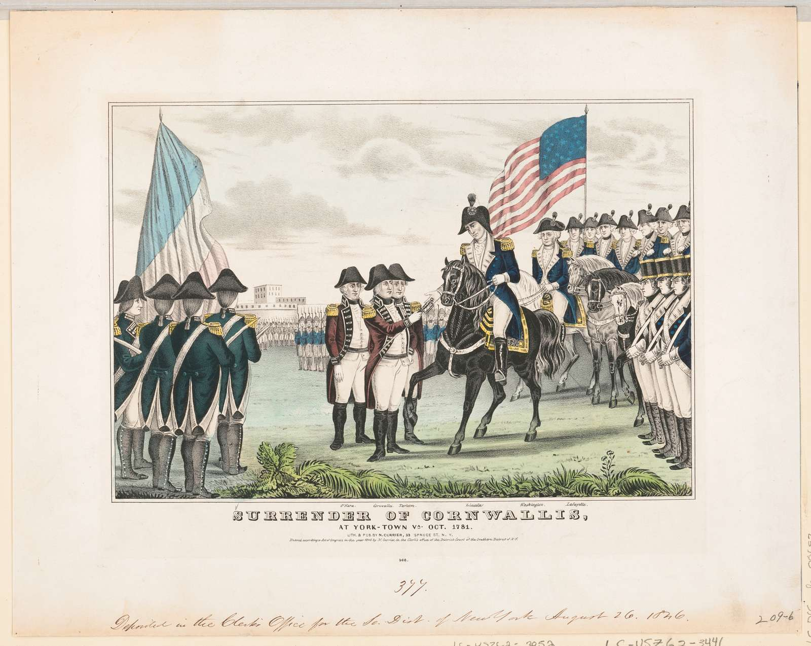 Surrender of Cornwallis: at York-Town Va. Oct. 1781