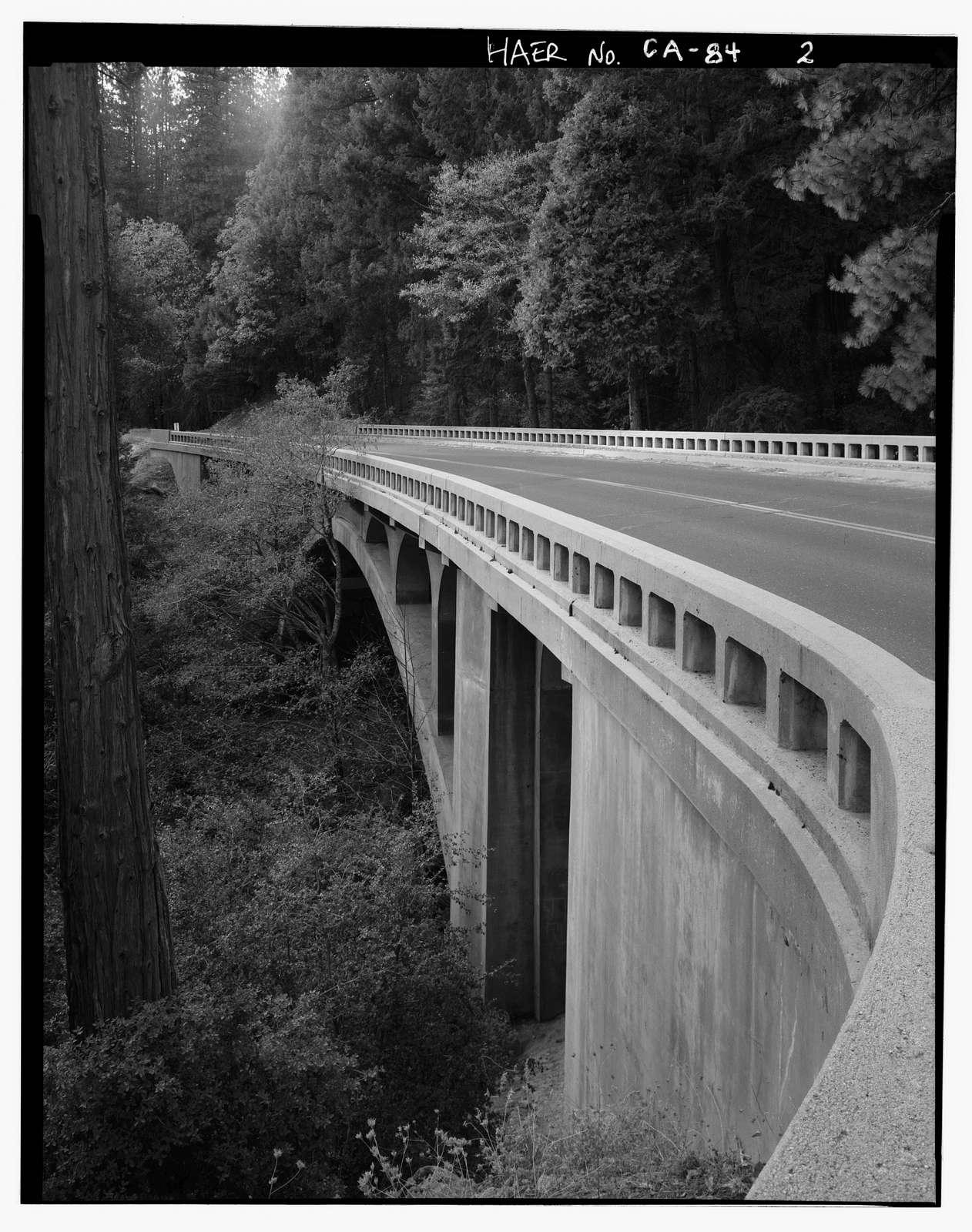 Tamarack Creek Bridge, Spanning Tamarack Creek on New Big Oak Flat Road, Yosemite Village, Mariposa County, CA