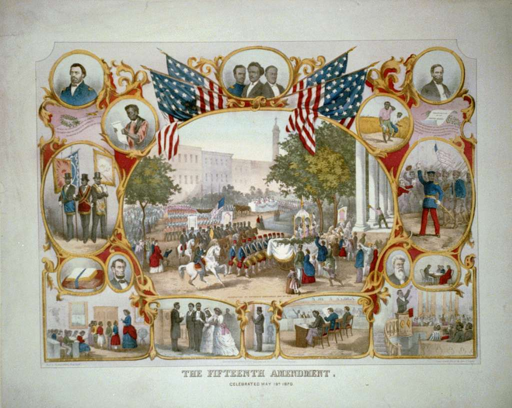The Fifteenth Amendment. Celebrated May 19th, 1870 / from an original design by James C. Beard.