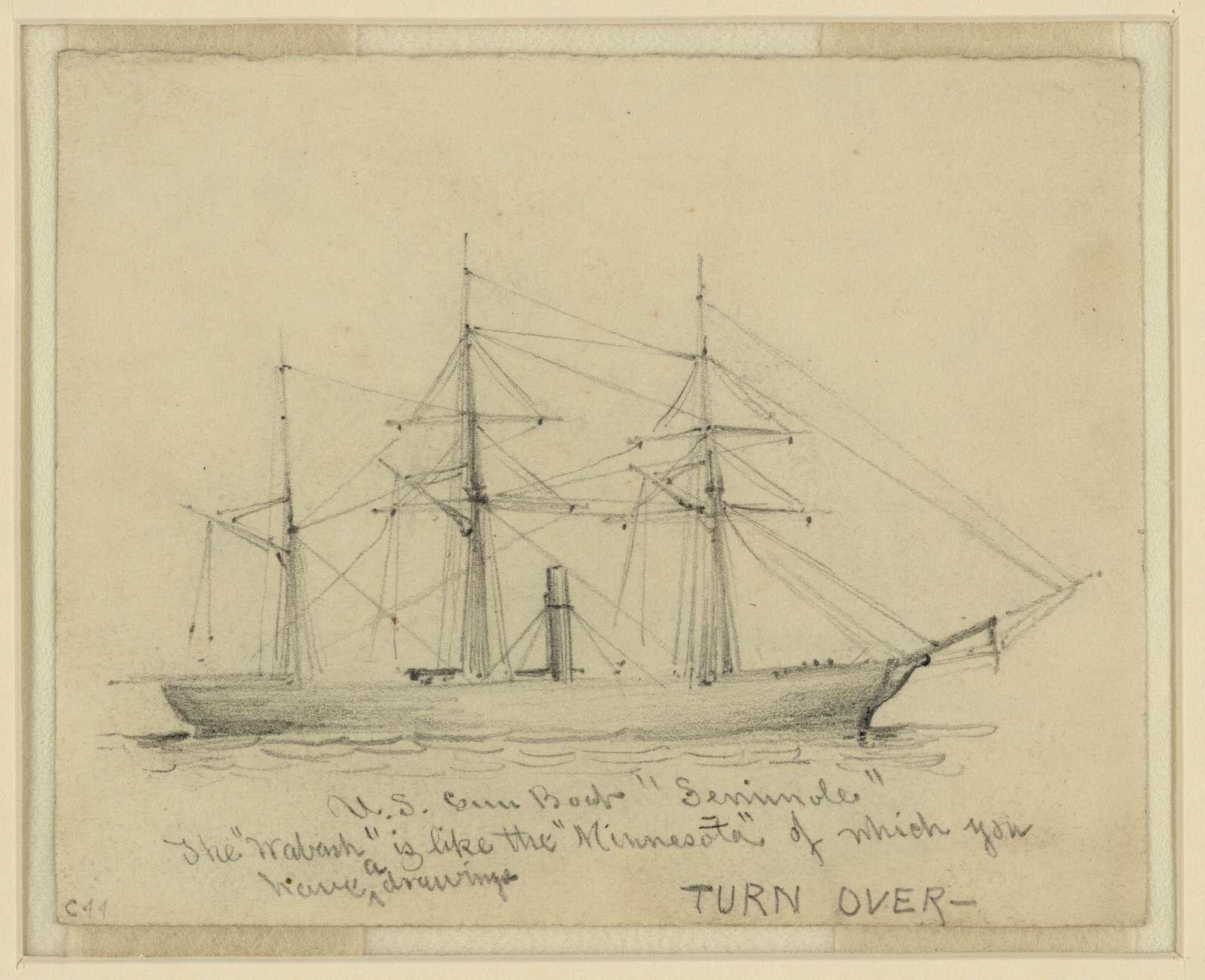"""U.S. Gun Boat """"Seminole"""""""