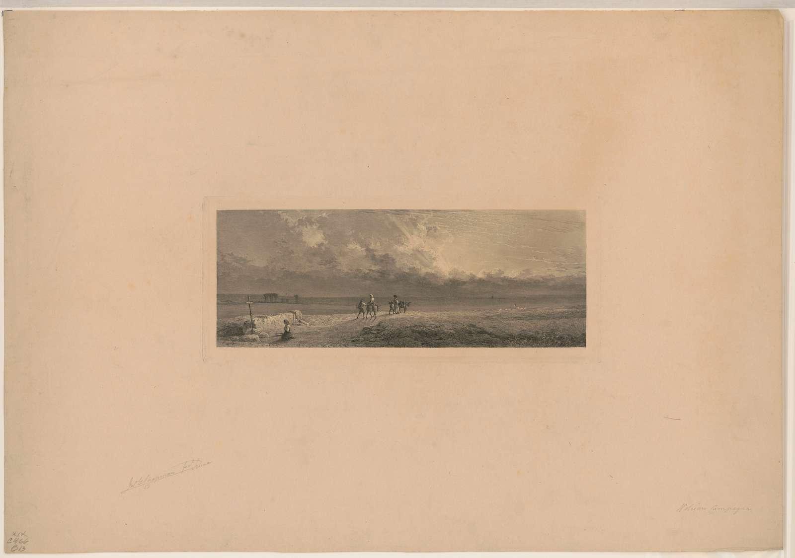 Volcian Campagna / Jno. G. Chapman, fect. Roma.