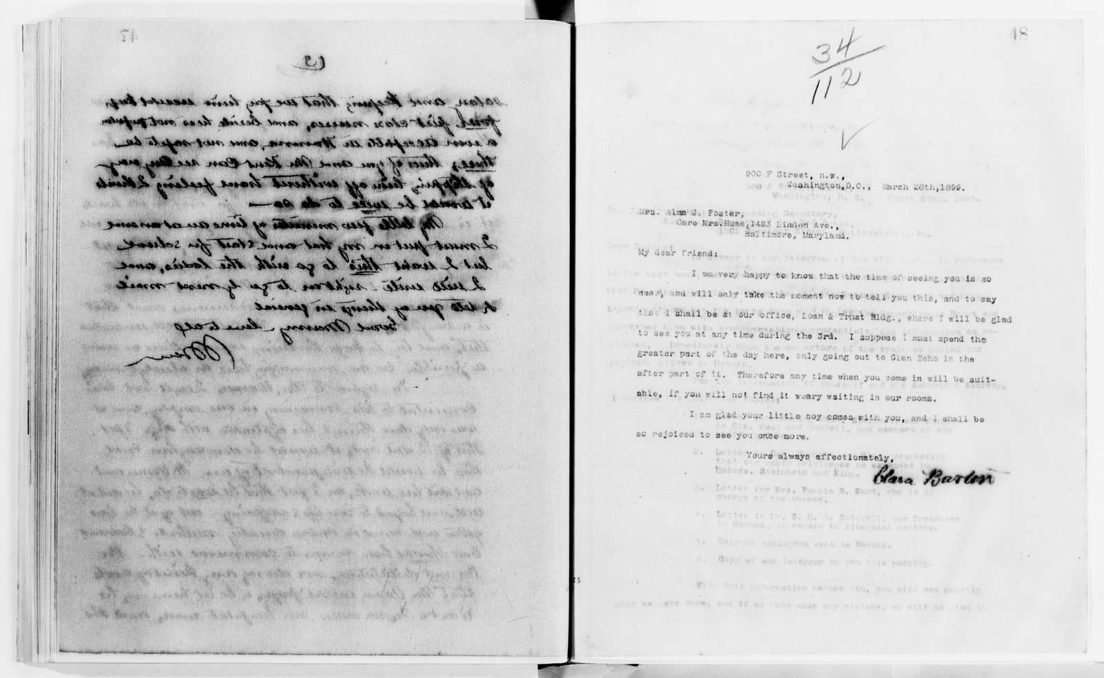 Clara Barton Papers: Letterbooks, 1876-1911; 1899, Mar.-1902, Nov.; pp. 1-442