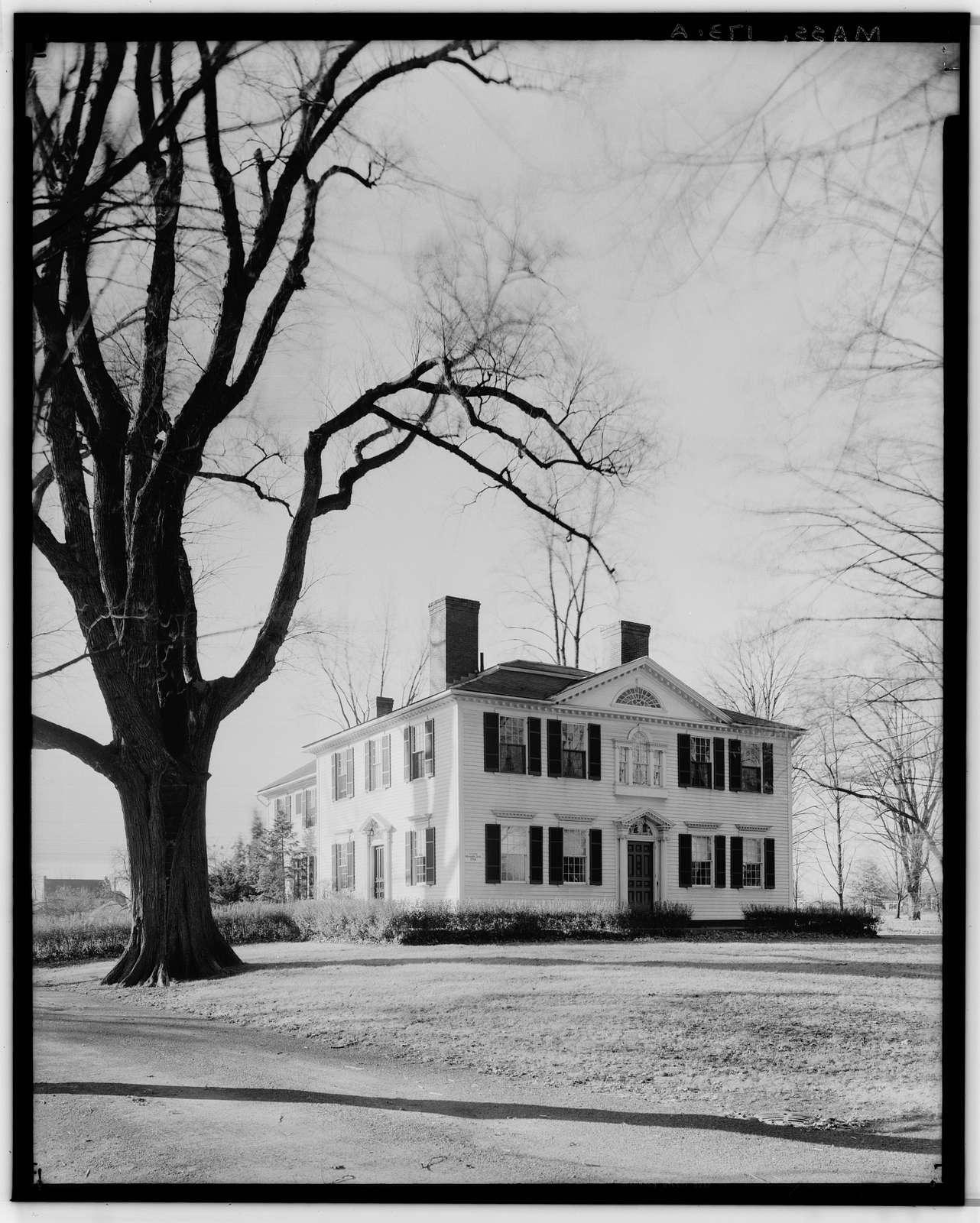 Colonel Alexander Field House, 280 Longmeadow Street, Longmeadow, Hampden County, MA