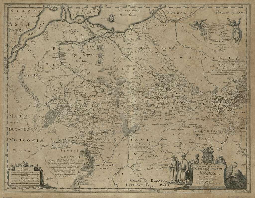 Delineatio generalis Camporum Desertorum vulgo Ukraina : cum adjacentibus provinciis /