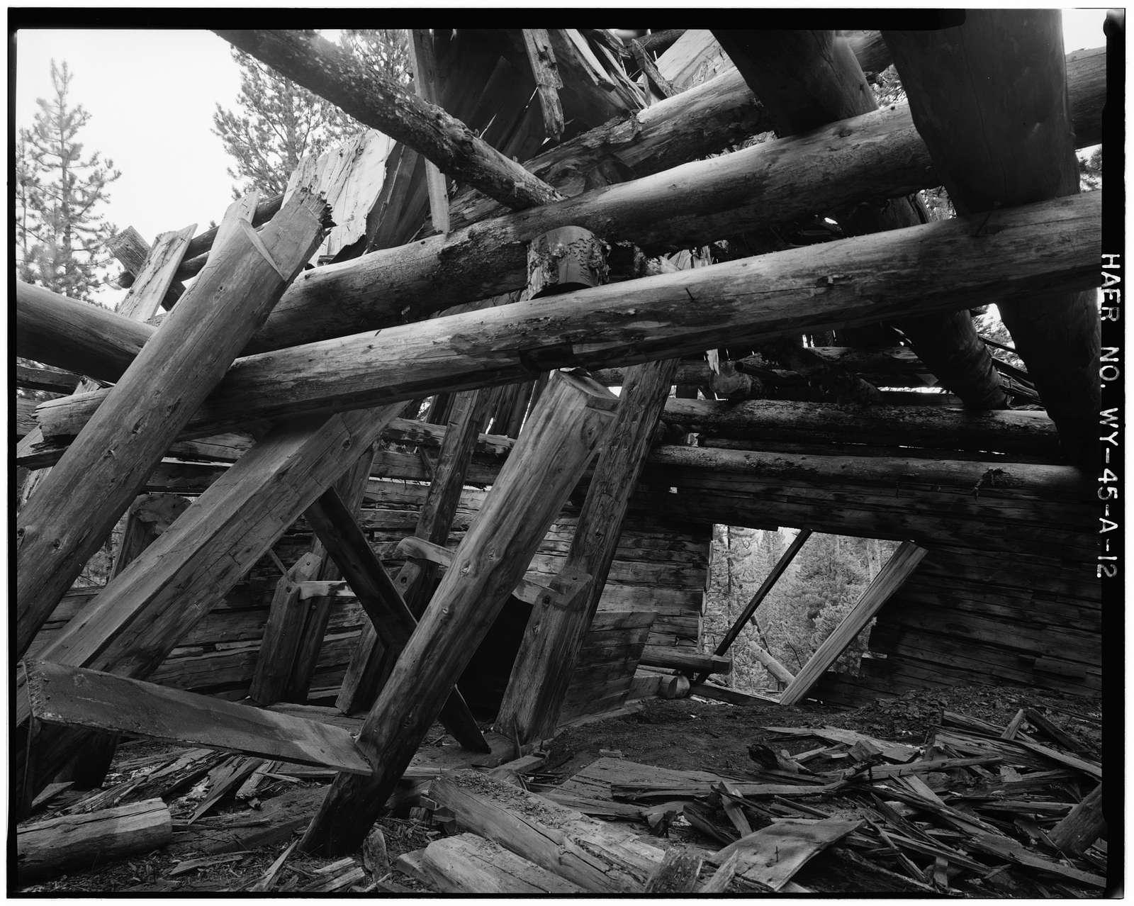 Joker Mine, Shafthouse, Medicine Bow National Forest, Northwest of Keystone, Keystone, Albany County, WY