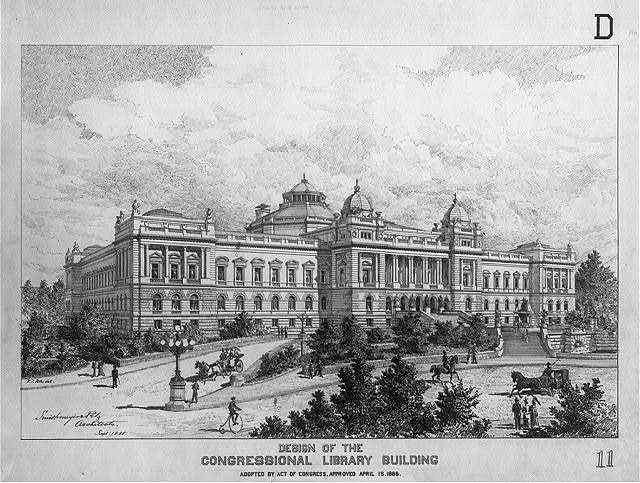 [Library of Congress, Washington, D.C. Exterior perspective rendering, D series]
