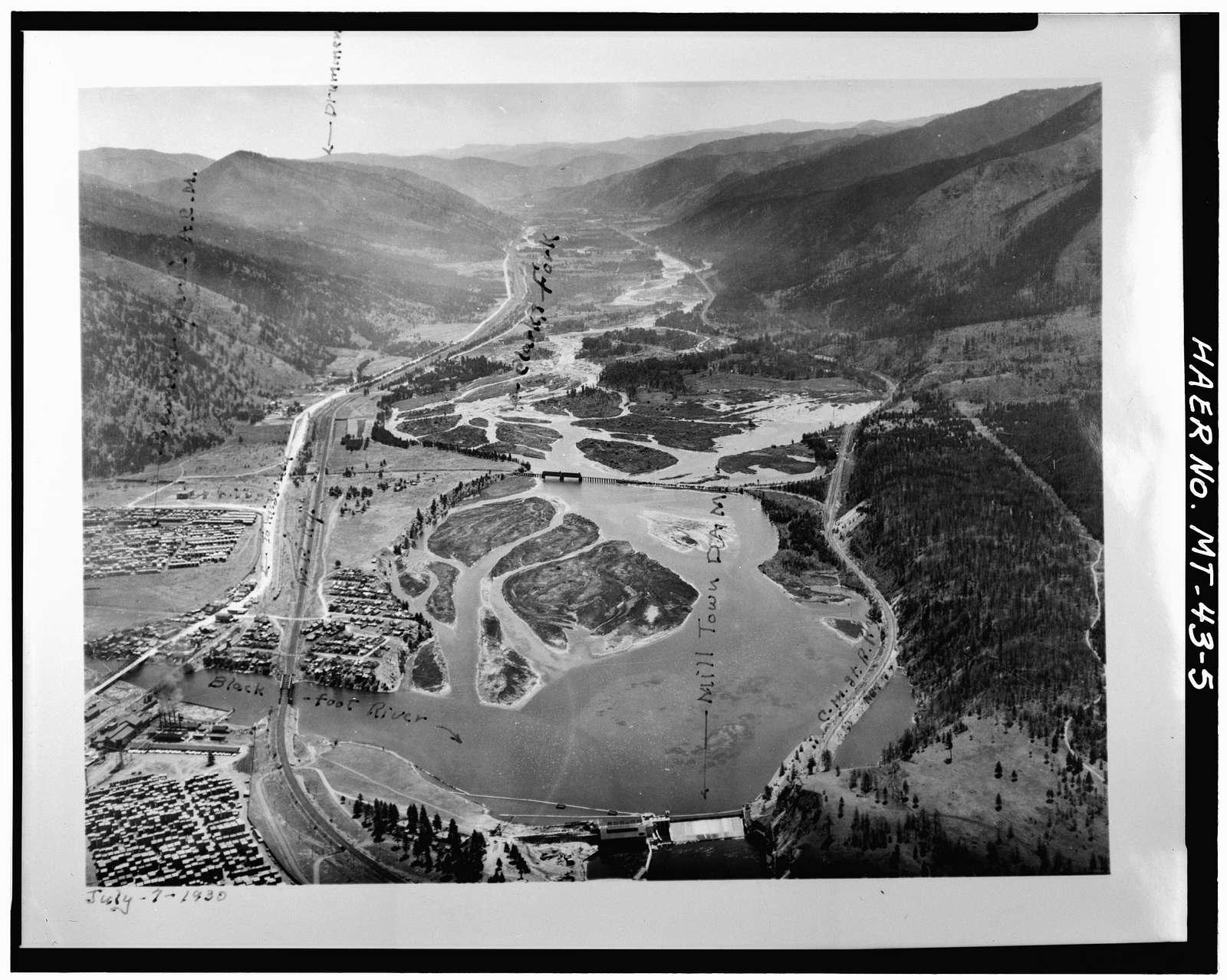 Milltown Dam, Clark Fork River, 6 miles upstream from Missoula, Milltown, Missoula County, MT