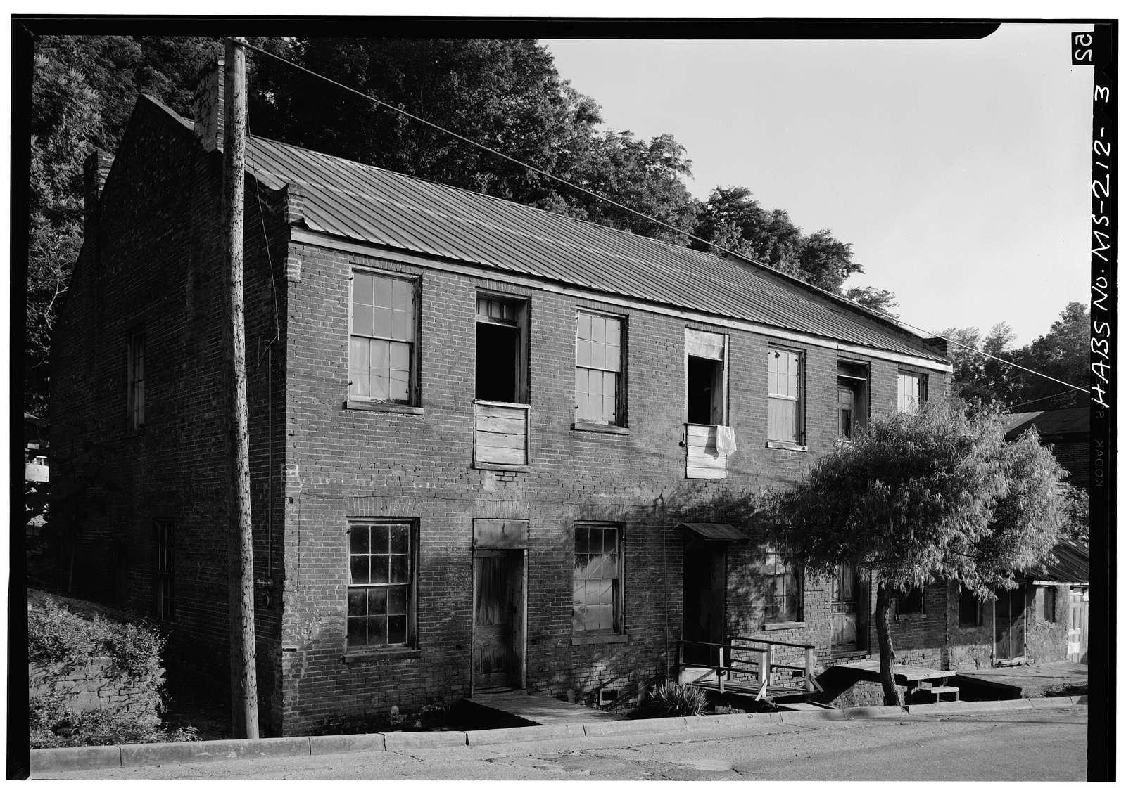 Natchez Bluffs & Under-the-Hill Historic District, Silver Street & adjacent area, Natchez, Adams County, MS