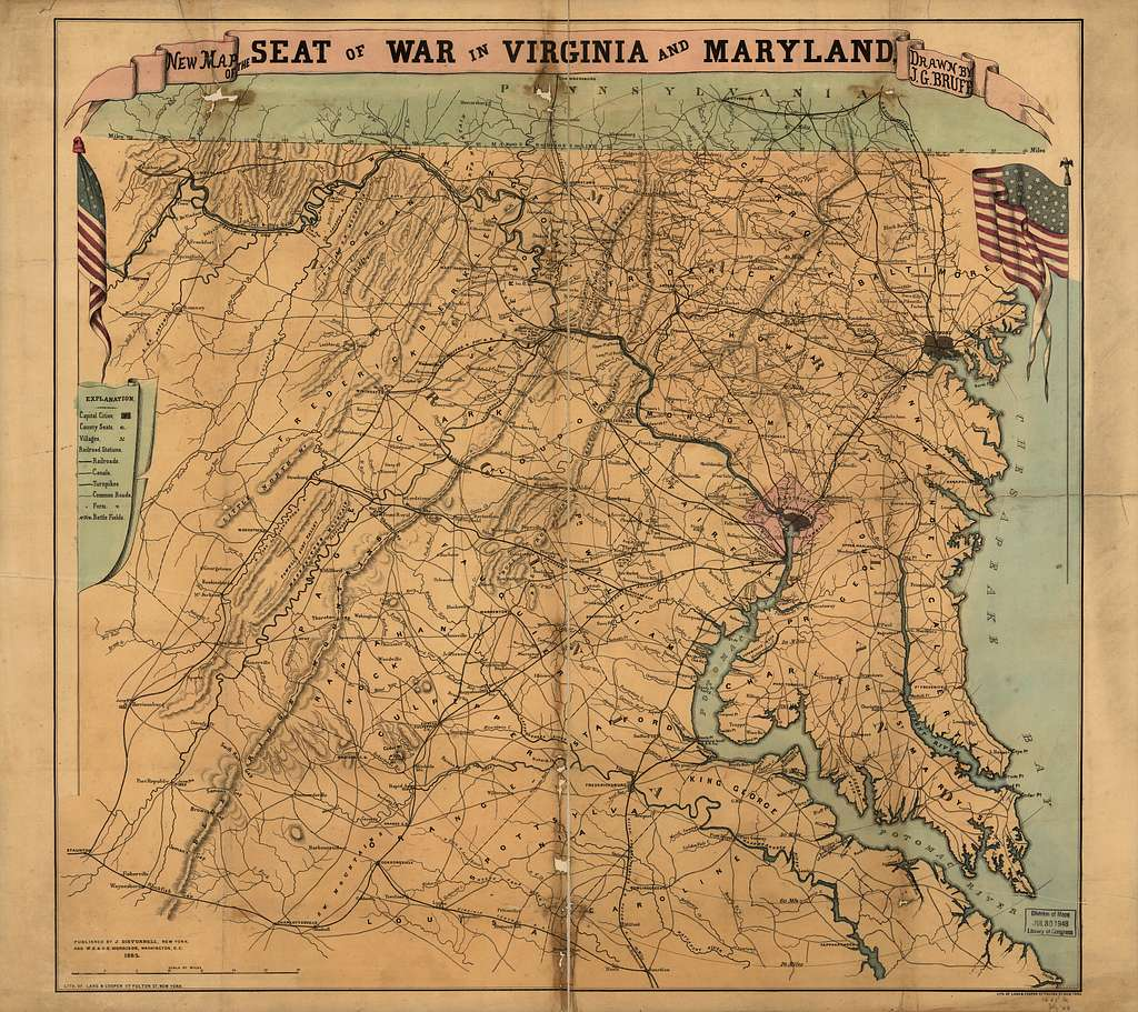 New map of the seat of war in Virginia and Maryland