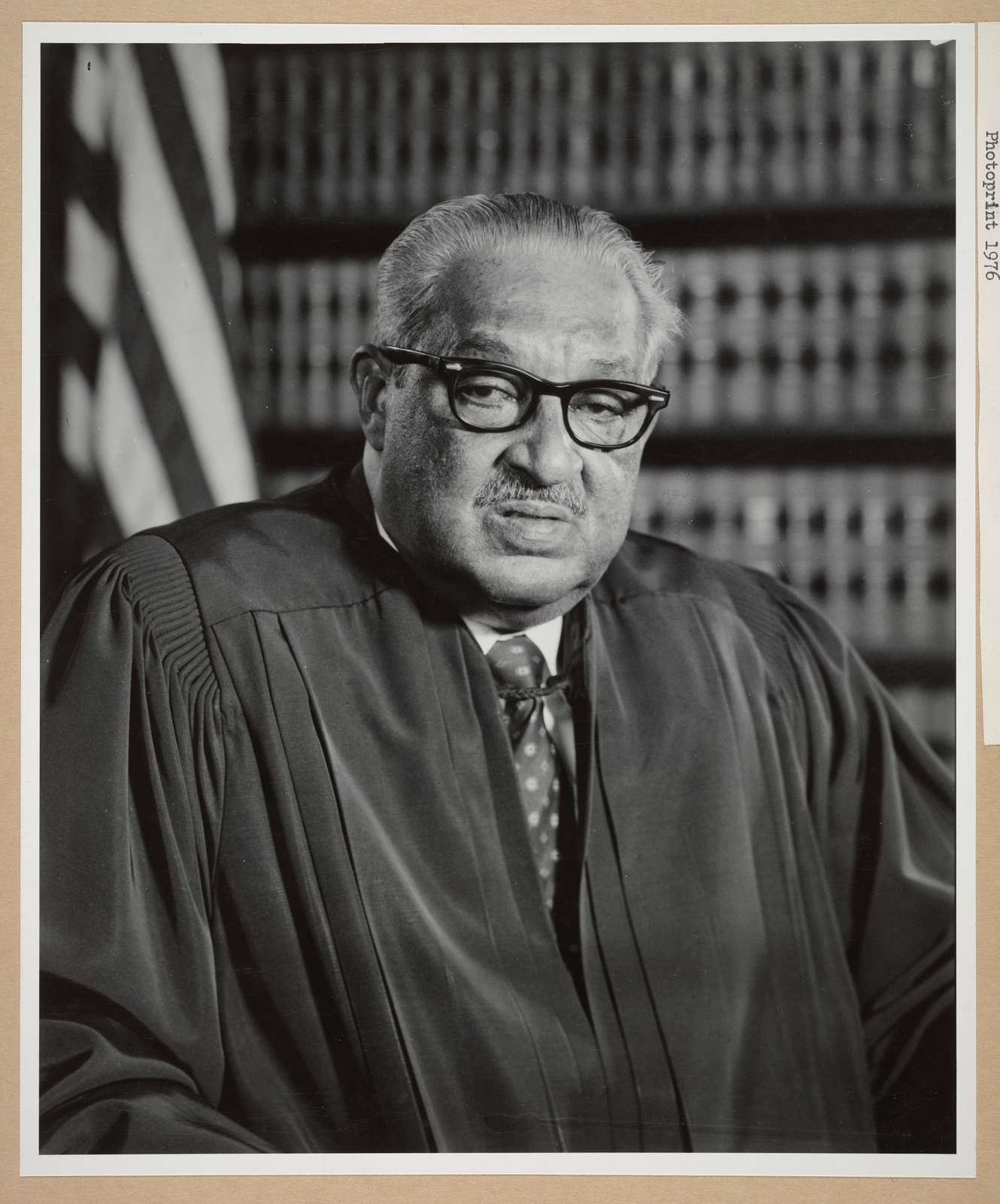 [Official portraits of the 1976 U.S. Supreme Court: Justice Thurgood Marshall]