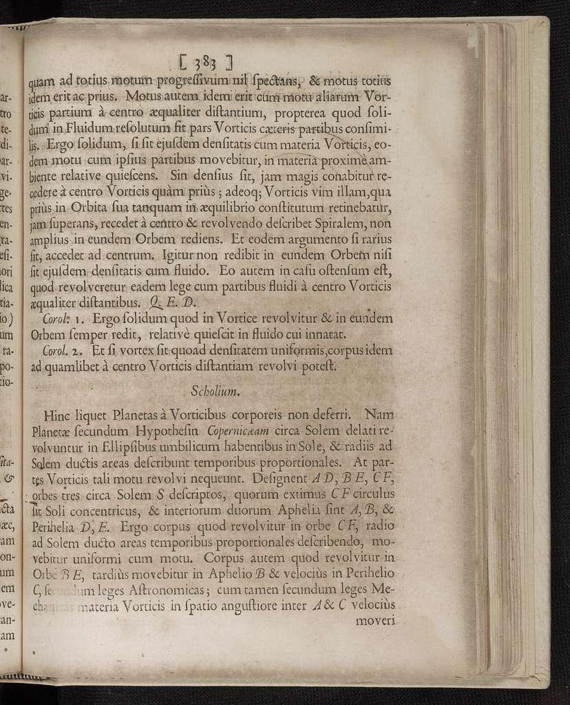 Philosophiae Naturalis Principia Mathematica.