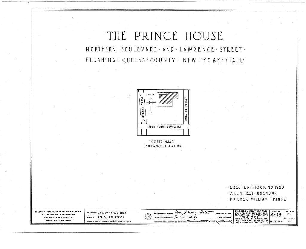 Prince House, Northern Boulevard & Lawrence Street, Flushing, Queens County, NY