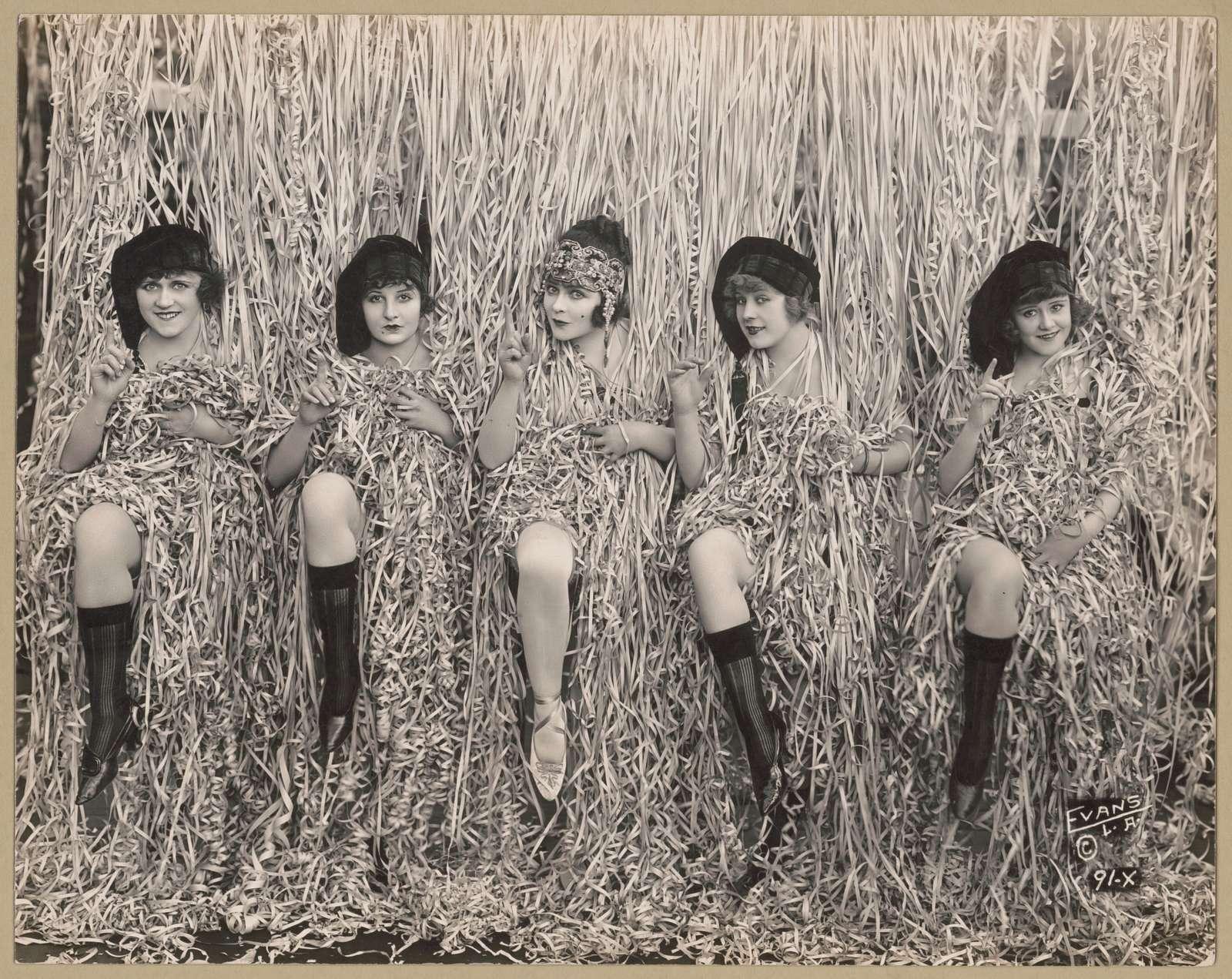 Sennett girls in serpentine confetti