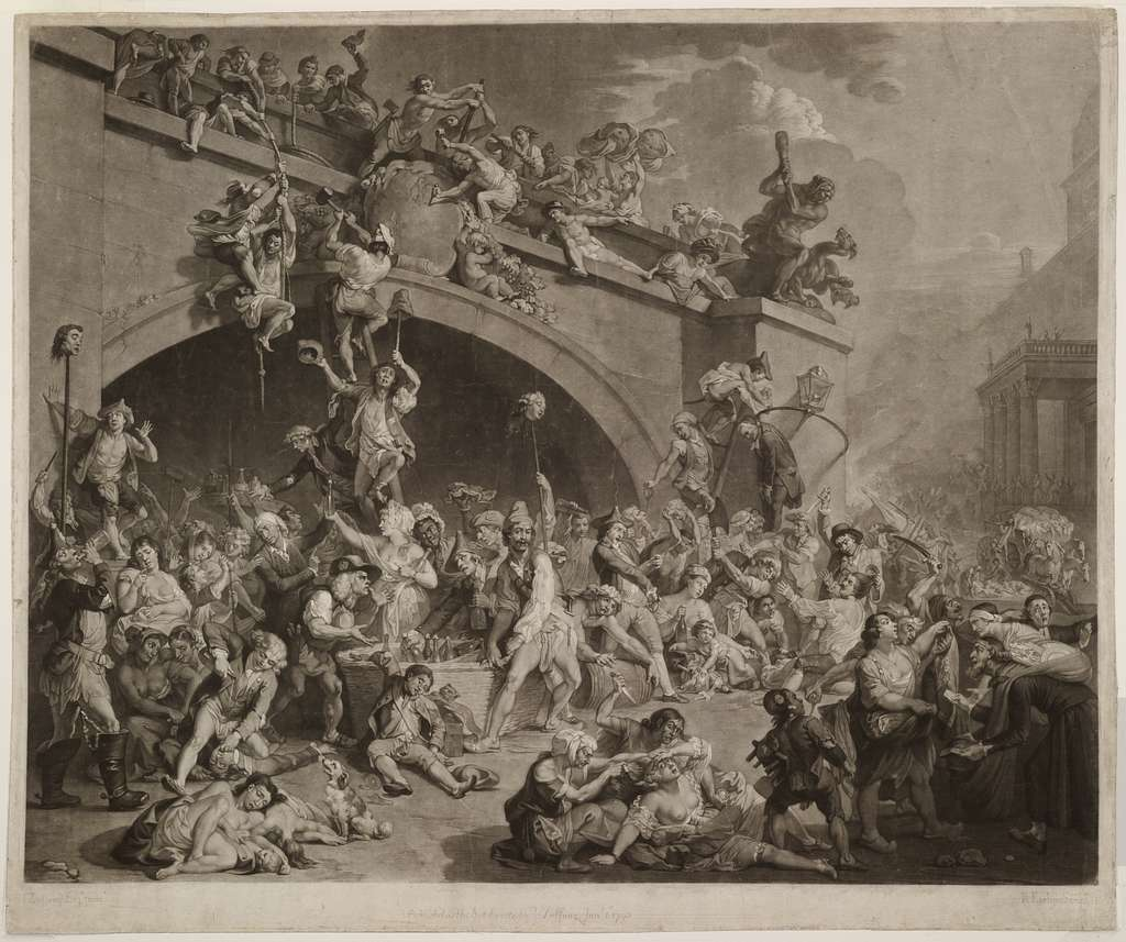 [The plundering of the King's cellar, Paris, 10th August, 1793 (i.e., 1792)] / J. Zoffany Esqr. pinx. ; R. Earlom sculpt.