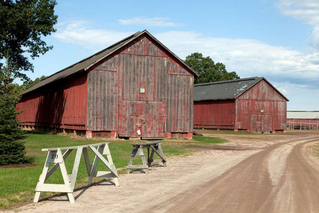 Tobacco barns in Windsor, Connecticut