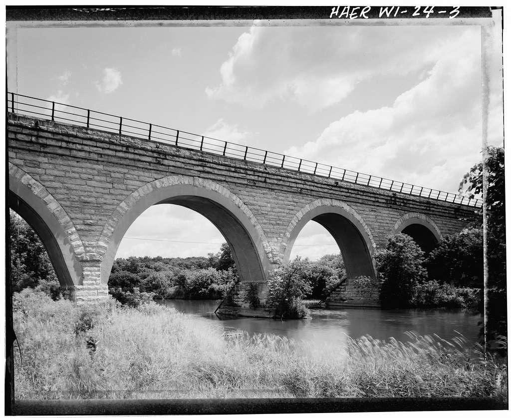 Chicago & North Western Railway Bridge No. 128, Spanning Turtle Creek, Tiffany, Rock County, WI