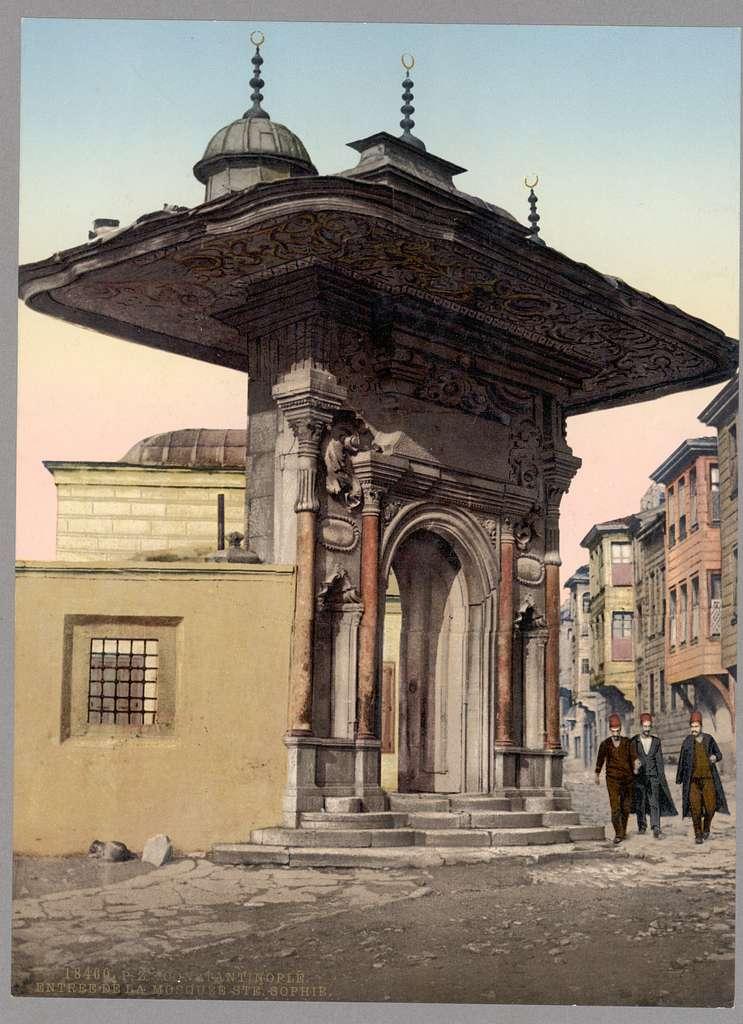 Entrée de la Mosque Ste. Sophie, Constantinople, Turkey