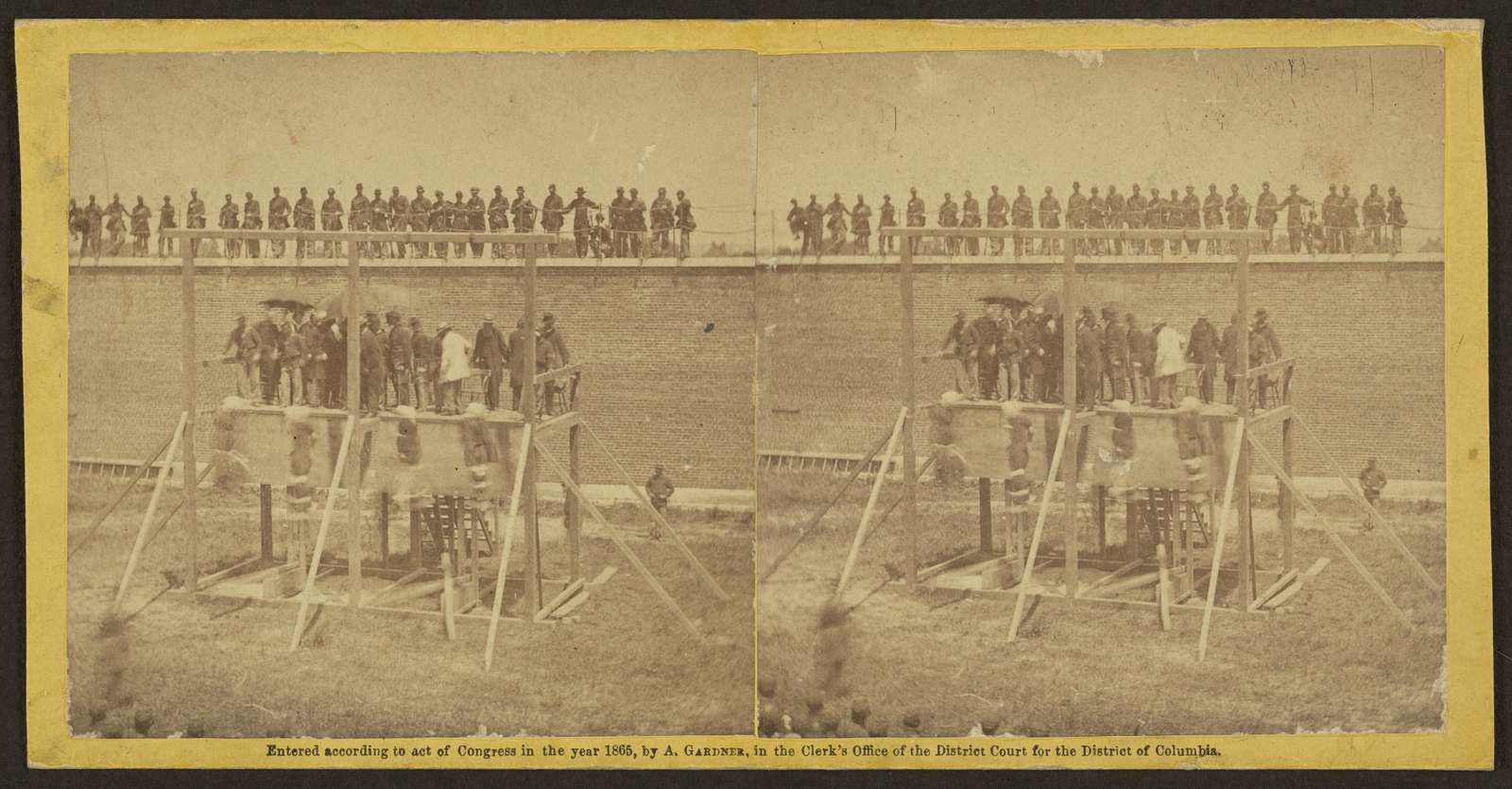 Execution of the conspirators -- the drop