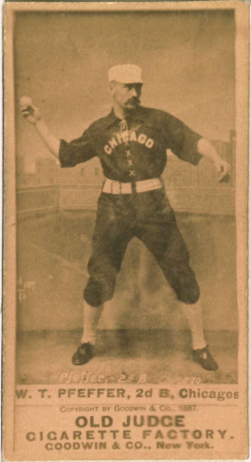 [Fred Pfeffer, Chicago White Stockings, baseball card portrait]