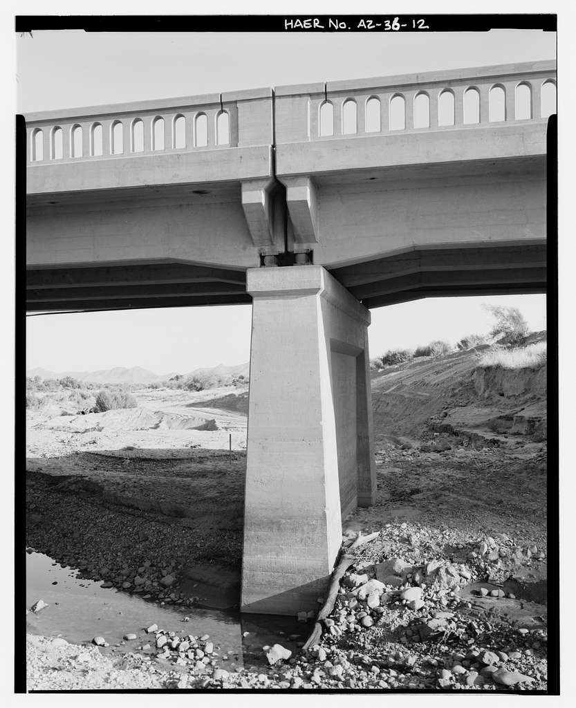 Hassayampa Bridge, Spanning Hassayampa River at old U.S. Highway 80, Arlington, Maricopa County, AZ