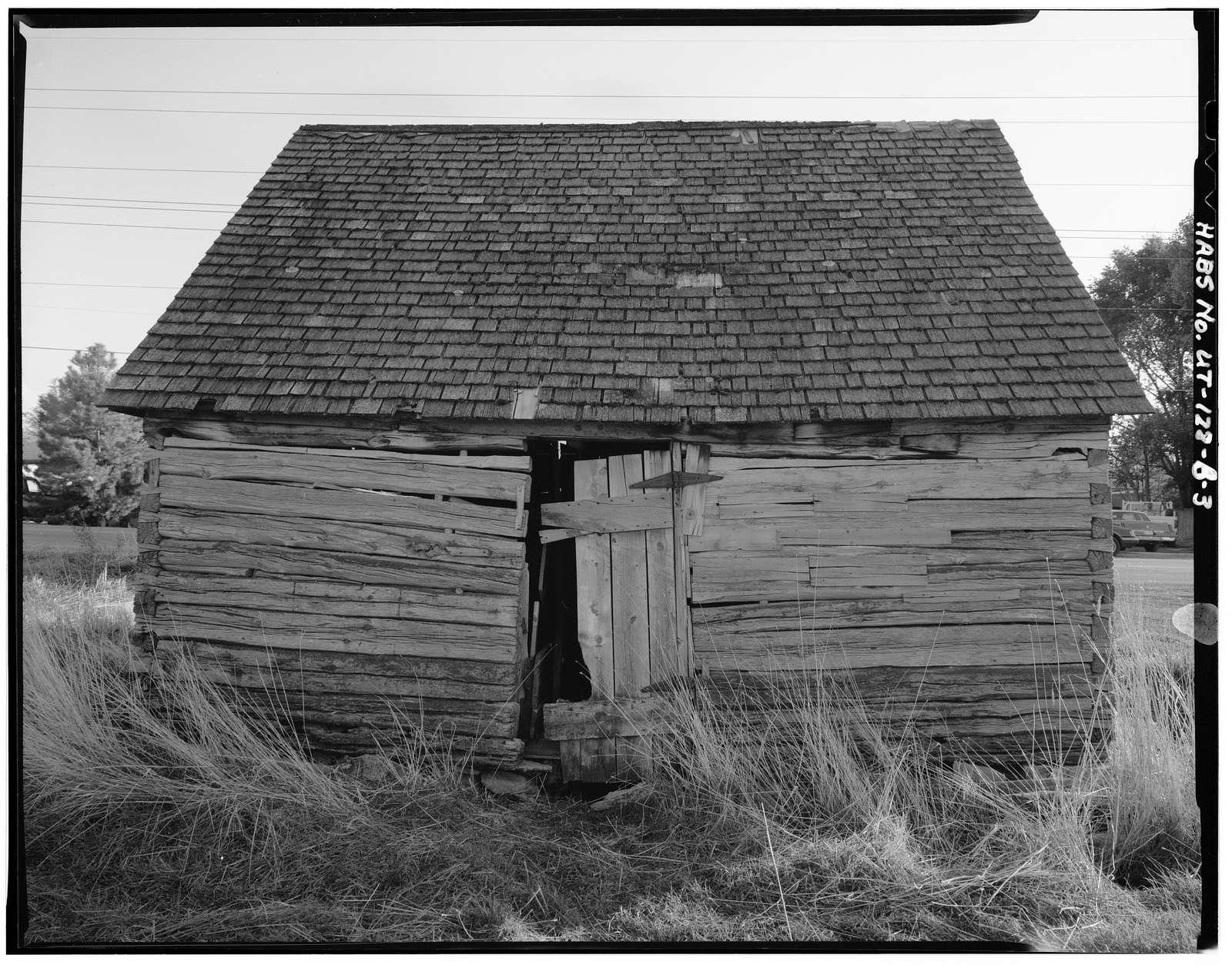 Jeppa Nelson, Log Granary, 150 West 1100 North Street, Pleasant Grove, Utah County, UT