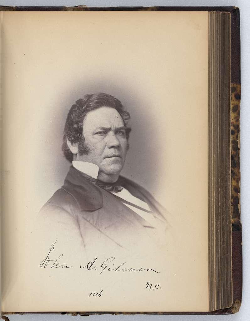 [John A. Gilmer, Representative from North Carolina, Thirty-fifth Congress, half-length portrait]
