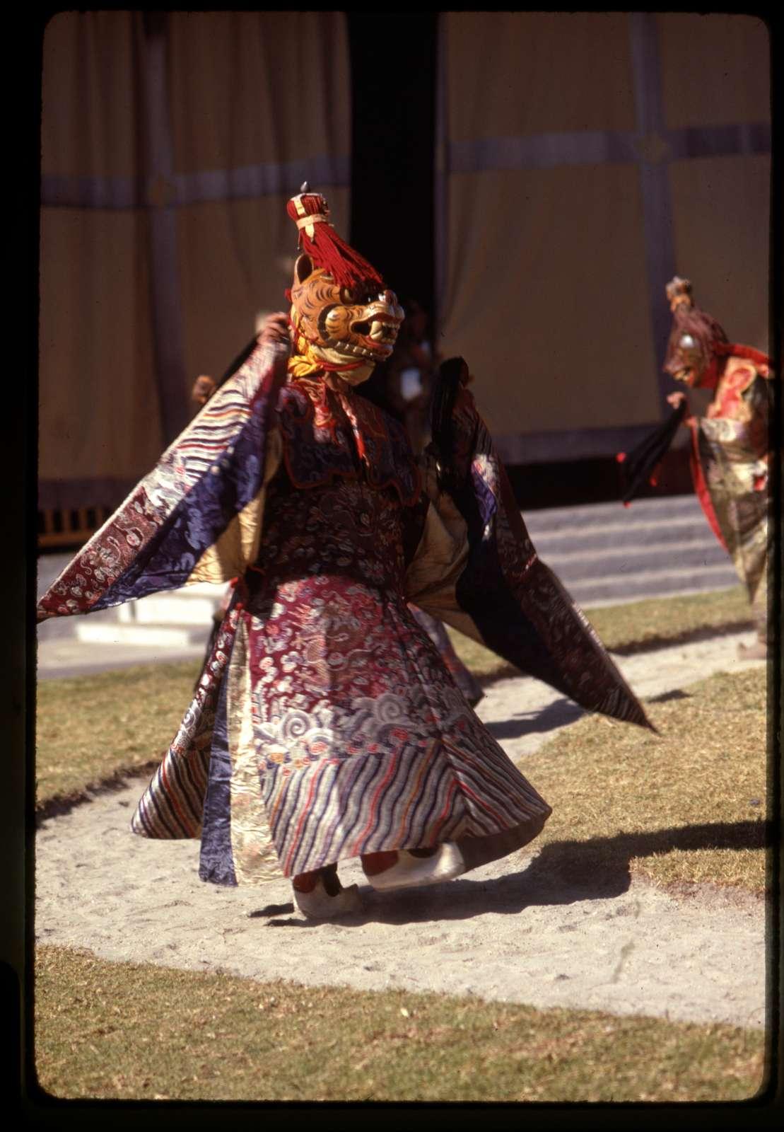 [Masked Black Hat dancer at New Year's ceremony, Gangtok, Sikkim]