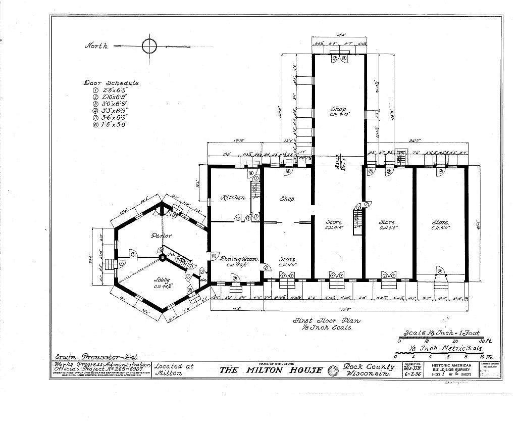 Milton House, Fort Atkinson Street, Milton, Rock County, WI