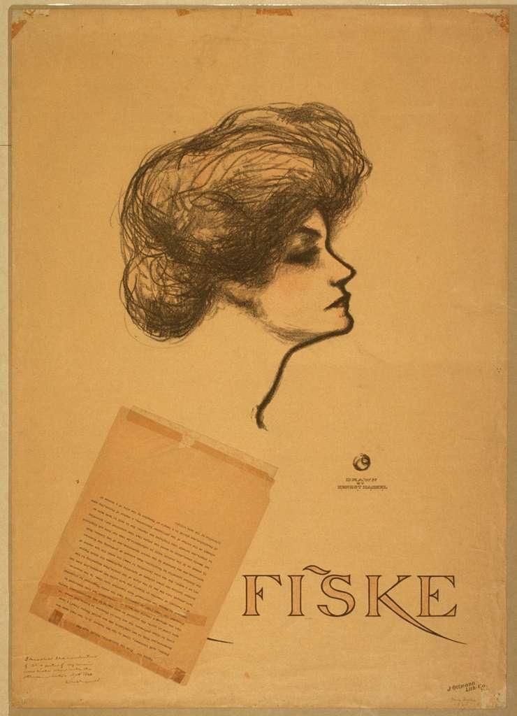 Minnie Fiske / drawn by Ernest Haskel.