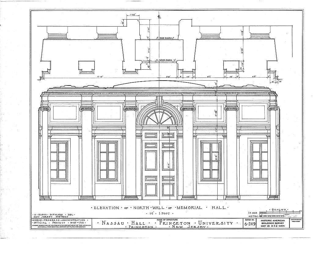 Nassau Hall, Nassau Street, Princeton, Mercer County, NJ