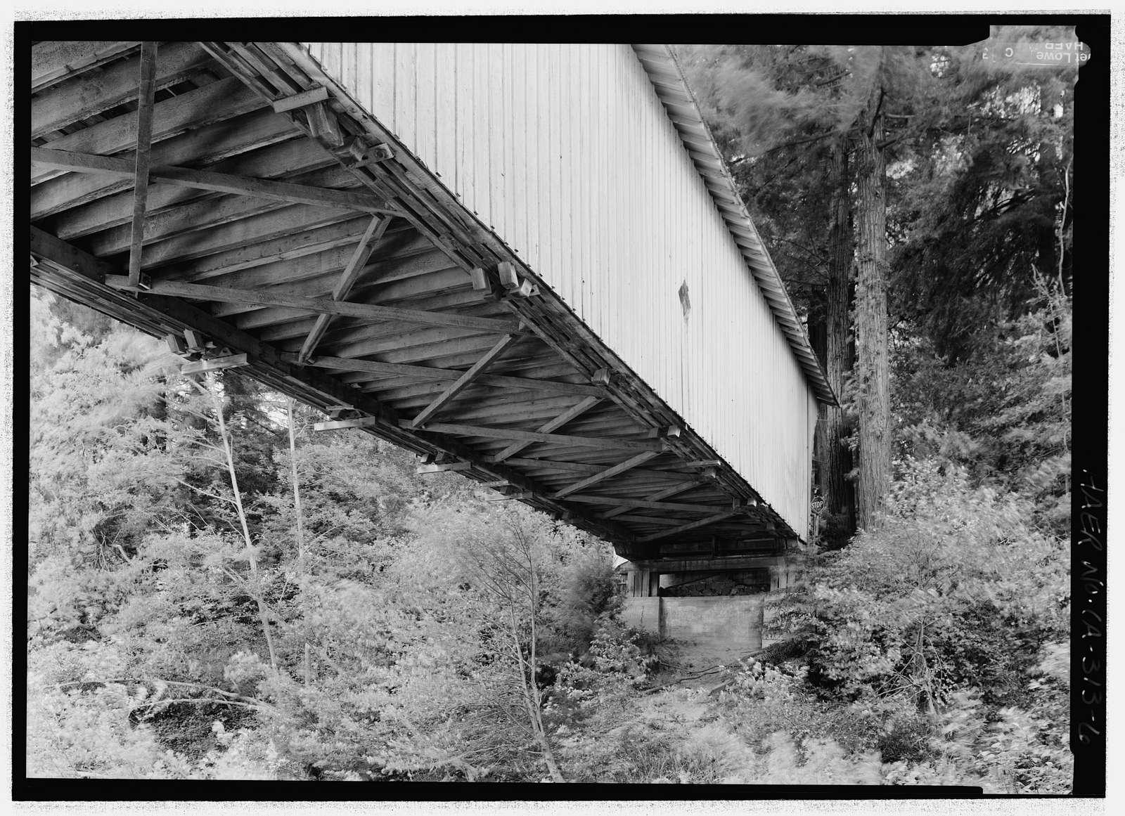 Powder Works Bridge, Spanning San Lorenzo River, Keystone Way, Paradise Park, Santa Cruz, Santa Cruz County, CA