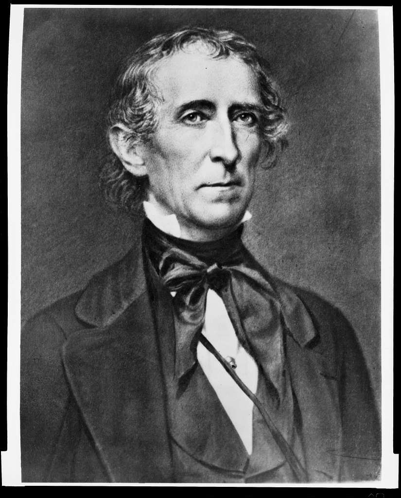 [President John Tyler, half-length portrait, facing right]