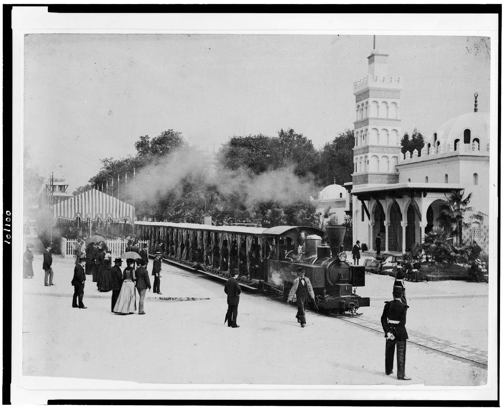 [Railroad train at the Paris Exposition, 1889]