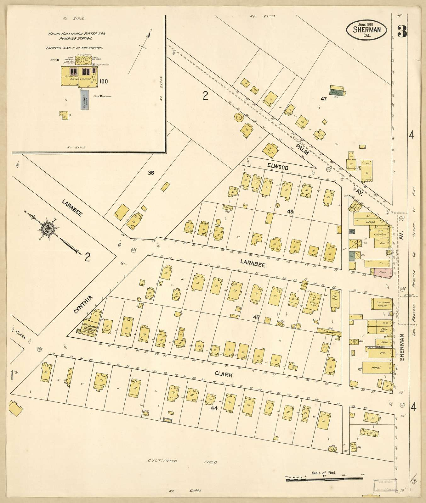 Sanborn Fire Insurance Map from Sherman, Los Angeles County, California.