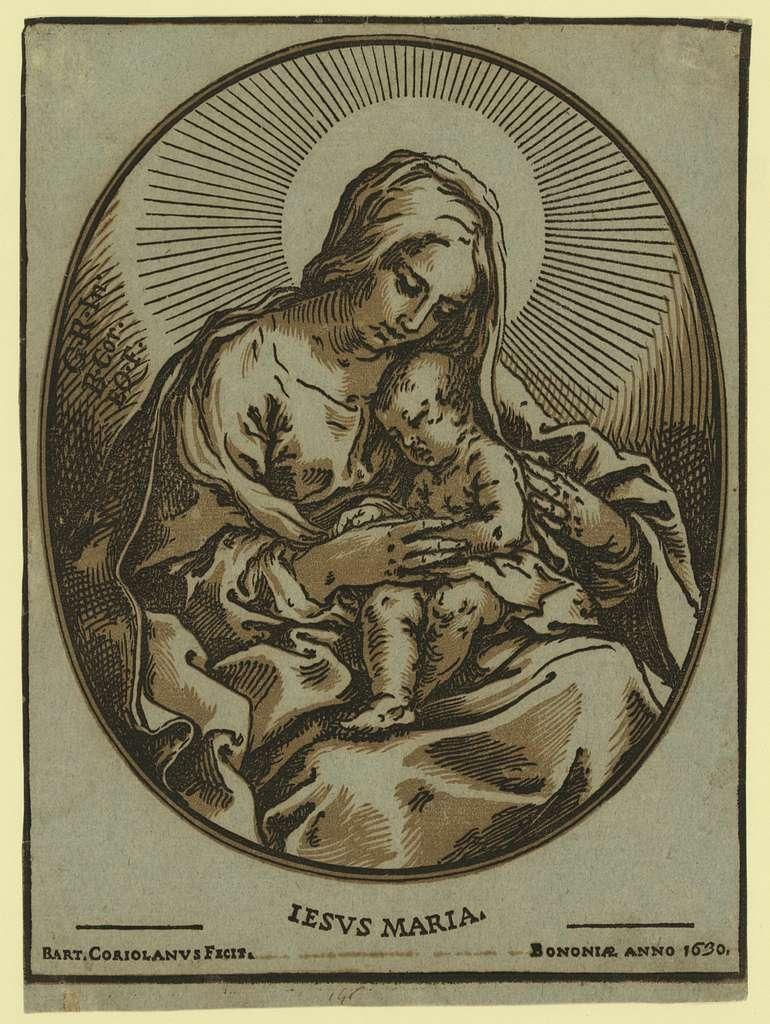 The Virgin and Child / Bart. Coriolanus Fecit. Bononiae anno 1630.