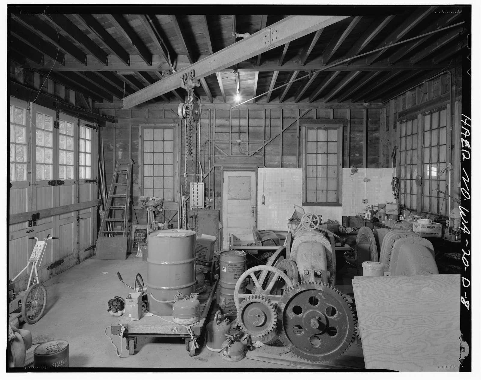 Tieton Dam, Construction Camp Warehouse-Shop, South & East side of State Highway 12, Naches, Yakima County, WA