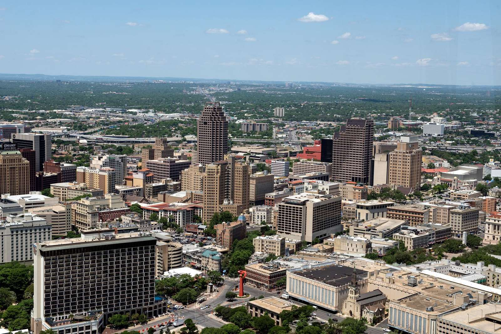 View of downtown San Antonio, Texas, from the Tower of the Americas