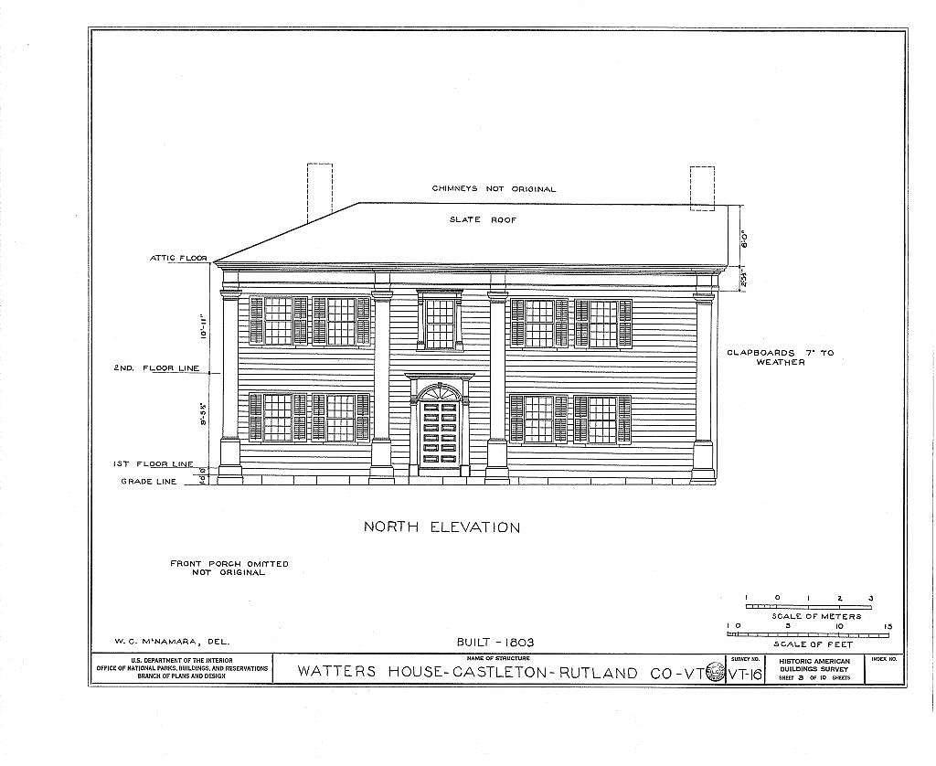 Watters House, Main & South Streets, Castleton, Rutland County, VT