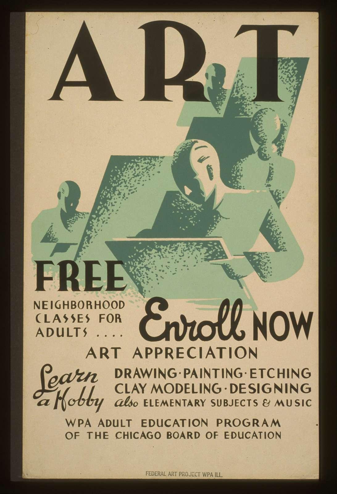 Art - Free neighborhood classes for adults ... enroll now