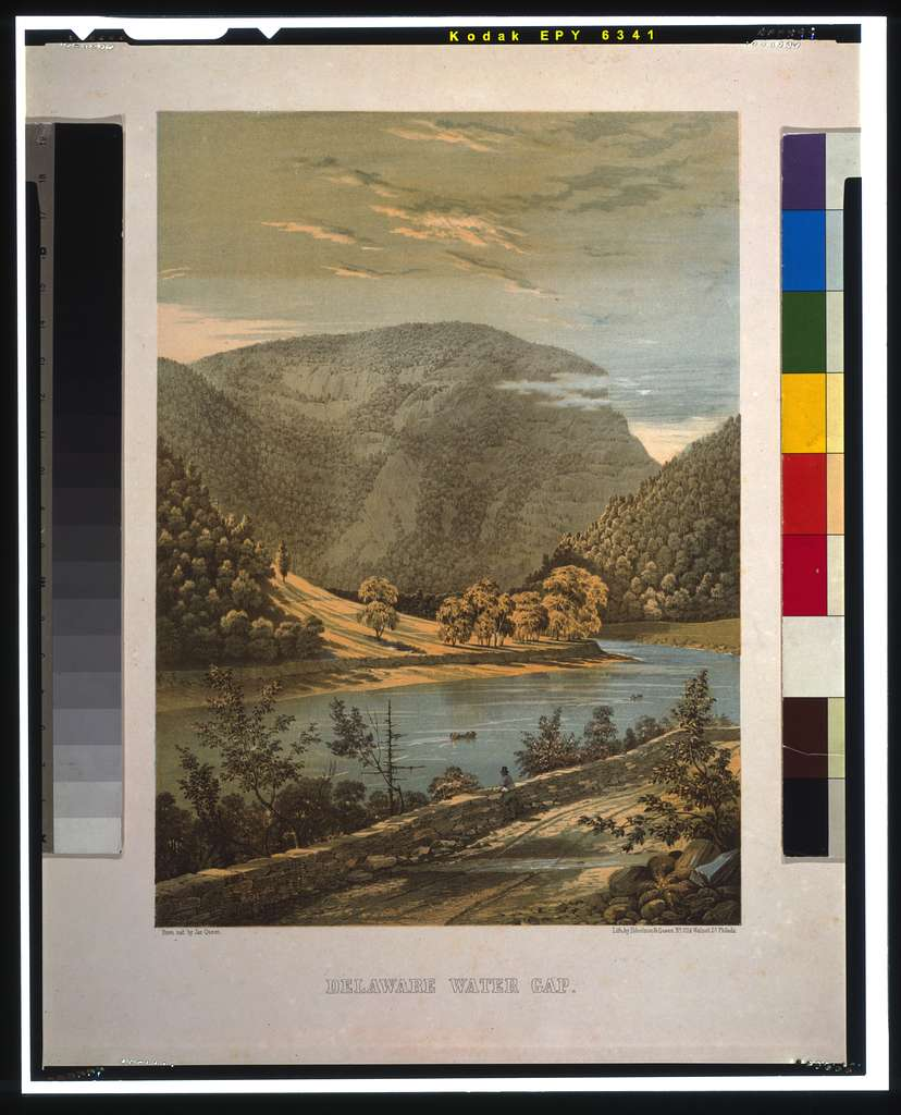 Delaware Water Gap / from nat. by Jas. Queen ; Lith. by Ibbotson & Queen.