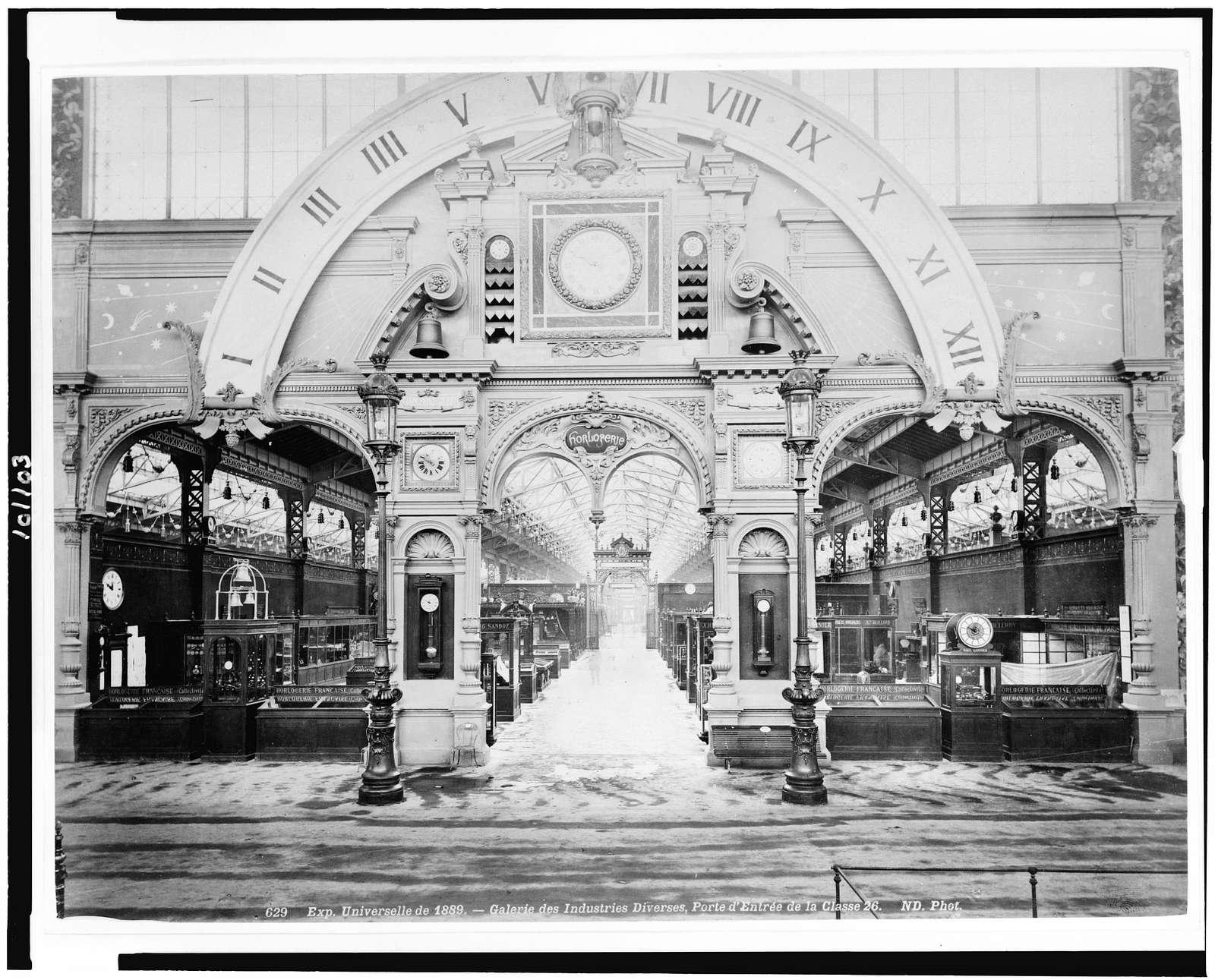 Exp. universelle de 1889 - Galerie des industries diverses, porte d'entrée de la classe 26 / ND Phot.